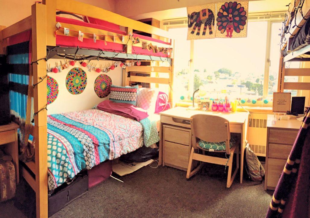 Dorm At University Of San Francisco 2014 2015 Girls Dorm Room Dorm Inspiration Room Inspiration