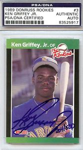 Valuable Ken Griffey Jr Cards Ken Griffey Jr Autographed