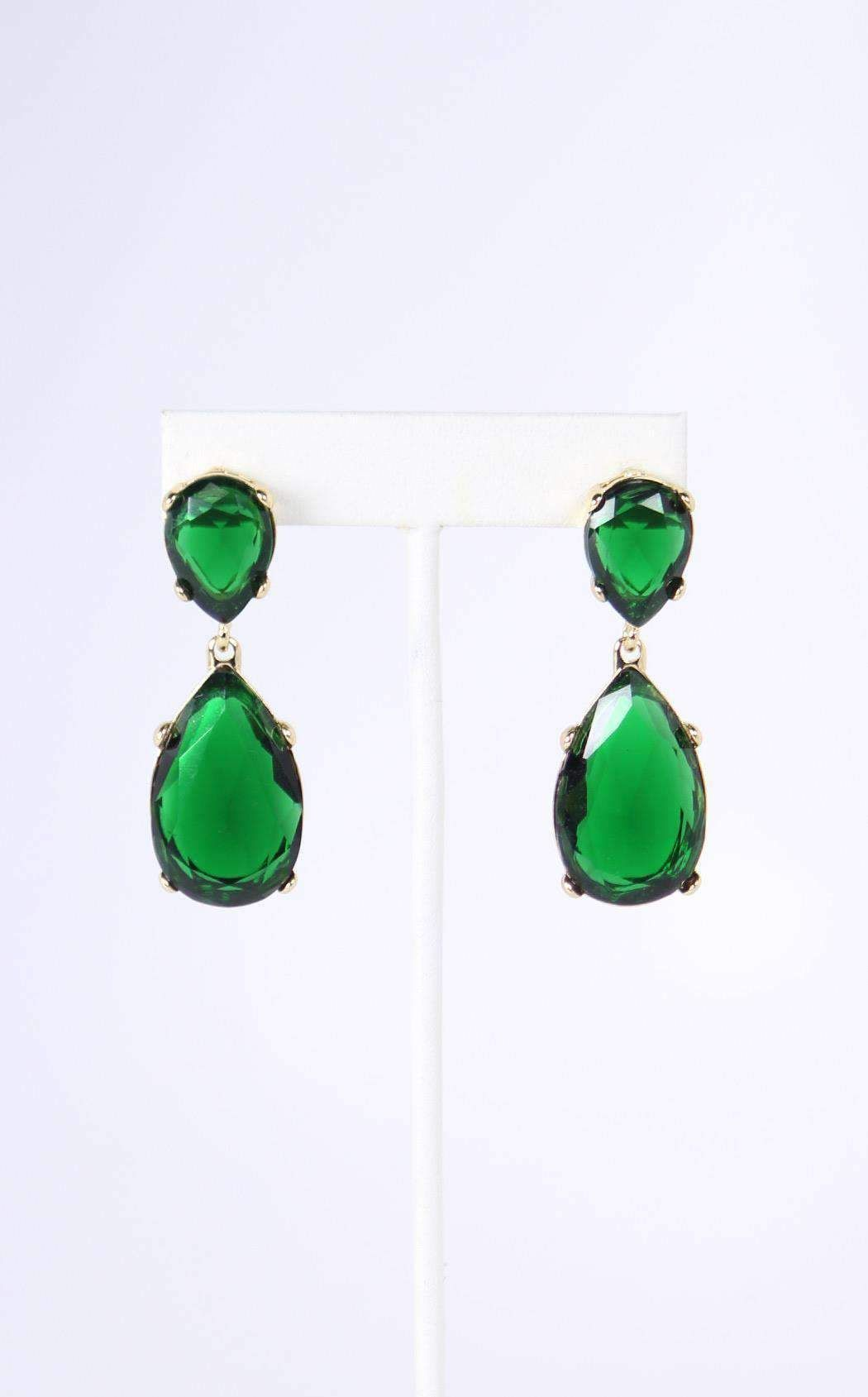 06e438a1b Kenneth Jay Lane - Emerald Teardrop Earring by Thomas Laine | Shades of  Green | Jewelry, Earrings, Kenneth jay lane