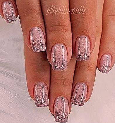 Astonishing pink and gray nail polish