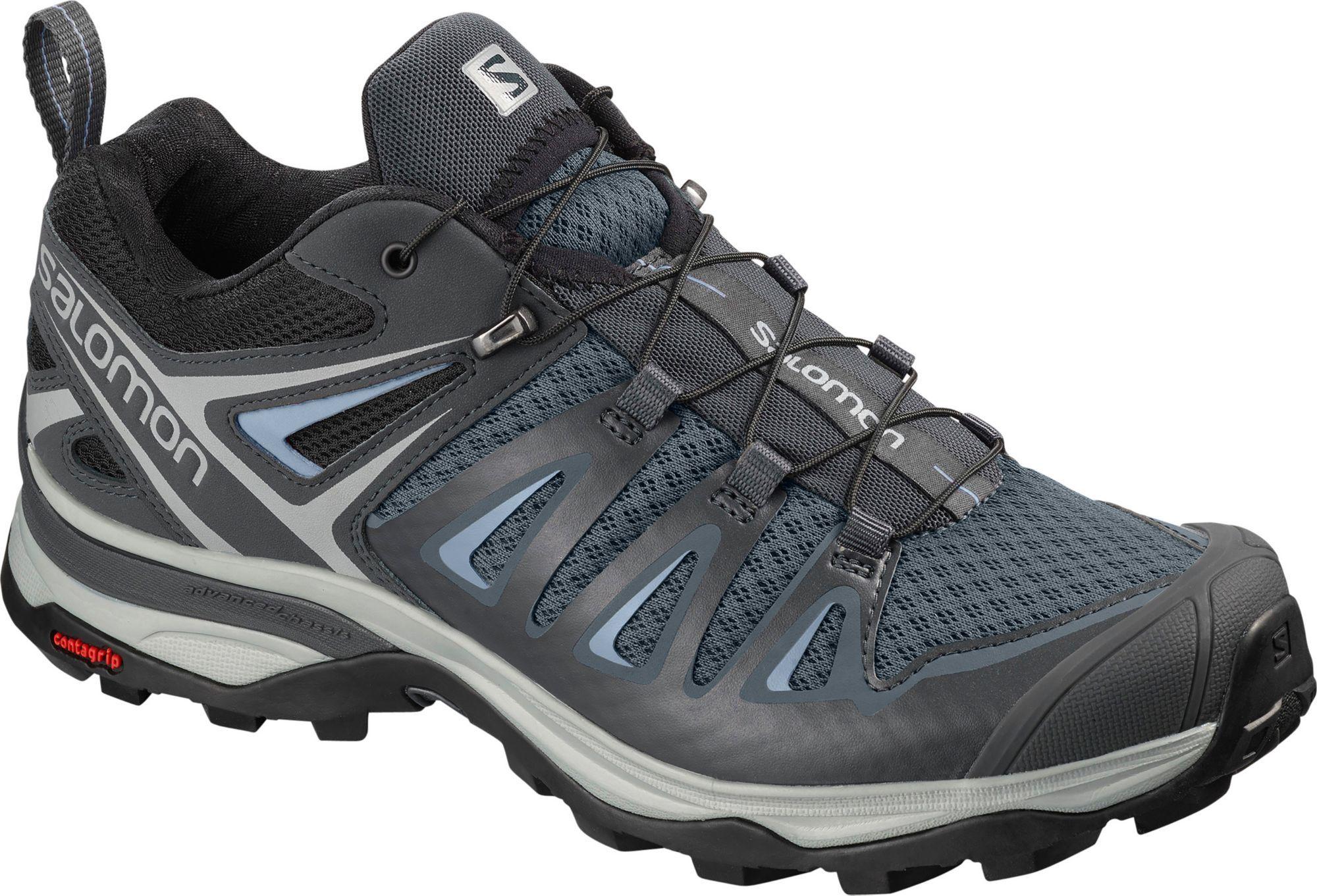 Salomon Men's X Ultra 2 GTX Hiking Shoe, BlackAutobahnPewter, 7 D US