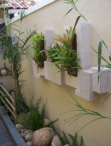 Muros decorados com plantas 392 512 jardins e for Plantas para patios
