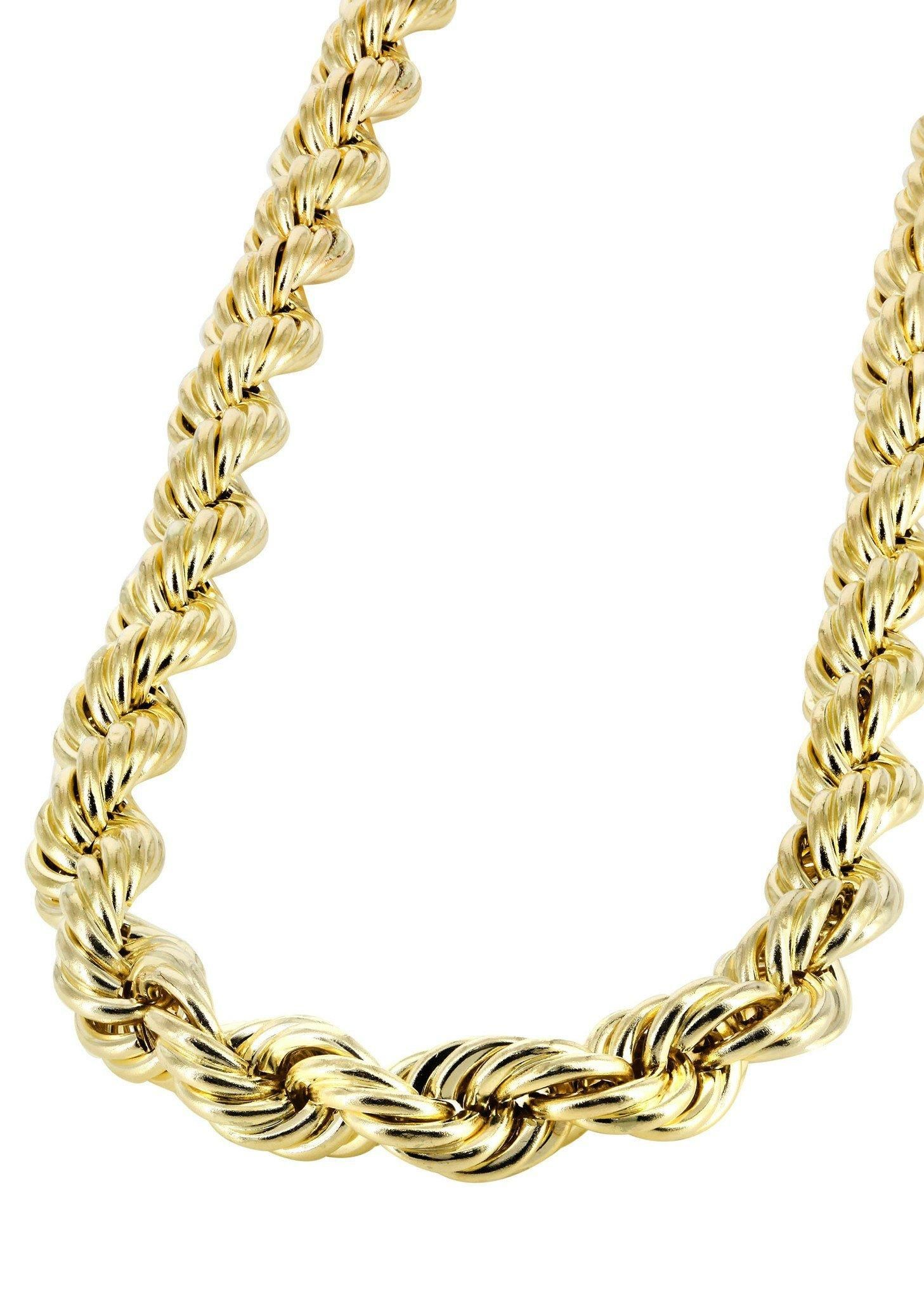 Frostnyc frost nyc hollow mens rope chain k yellow gold