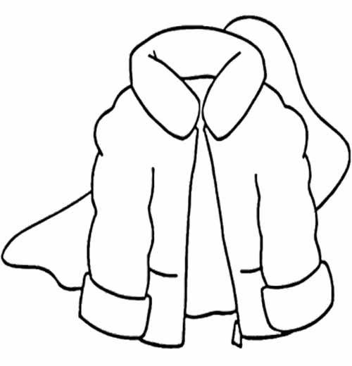 Winter Coat Coloring Page | Winter Coloring Page | Pinterest | Crafts