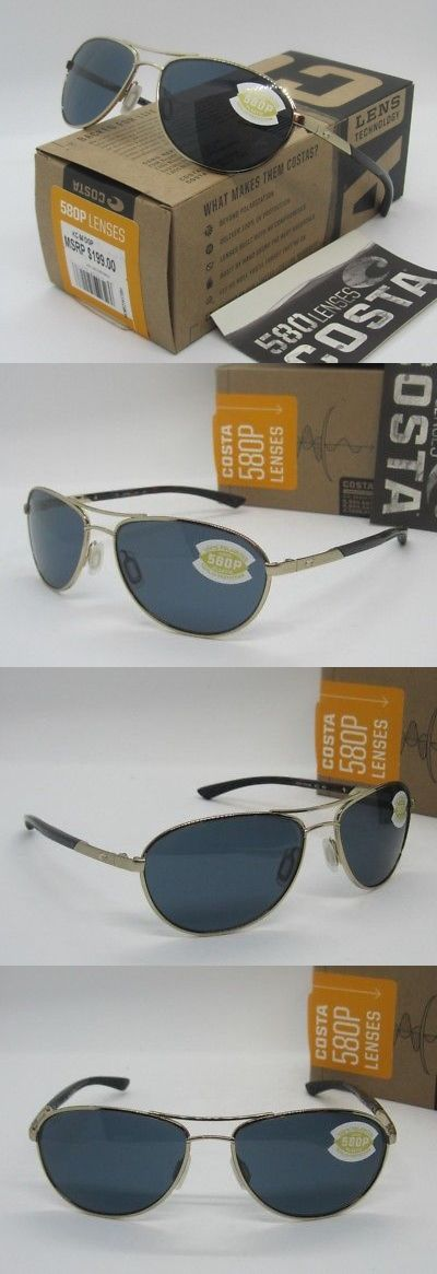 ed0f6ab53a9 Sunglasses 45246  Costa Del Mar Rose Gold Gray Kc Polarized 580P Aviator  Sunglasses! New