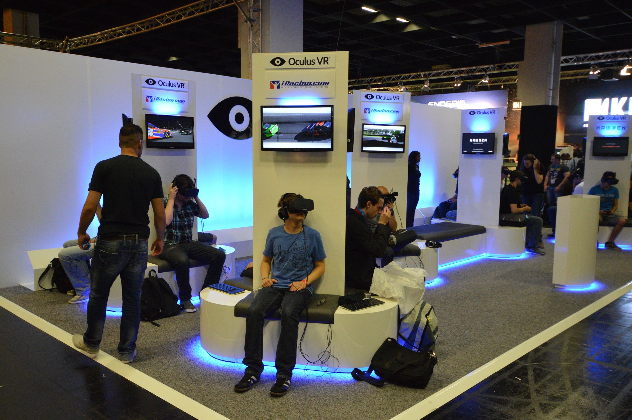 There S One Genre That Seems To Be Rushing To Adopt The Oculus Rift Racing Simulations We Round Them All Up Event Booth Video Game Rooms Trade Show Design
