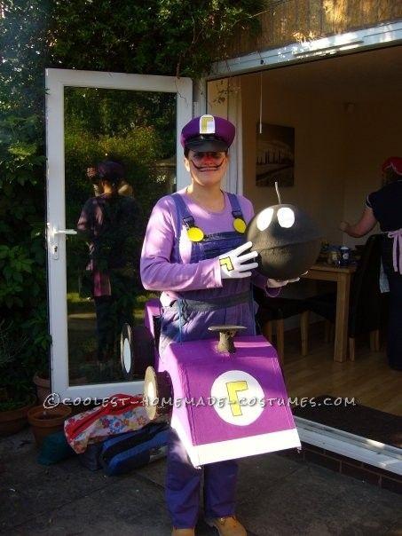 Orion Costumes Mens Waluigi Super Mario Purple Retro 80s Video Game Fancy Dress