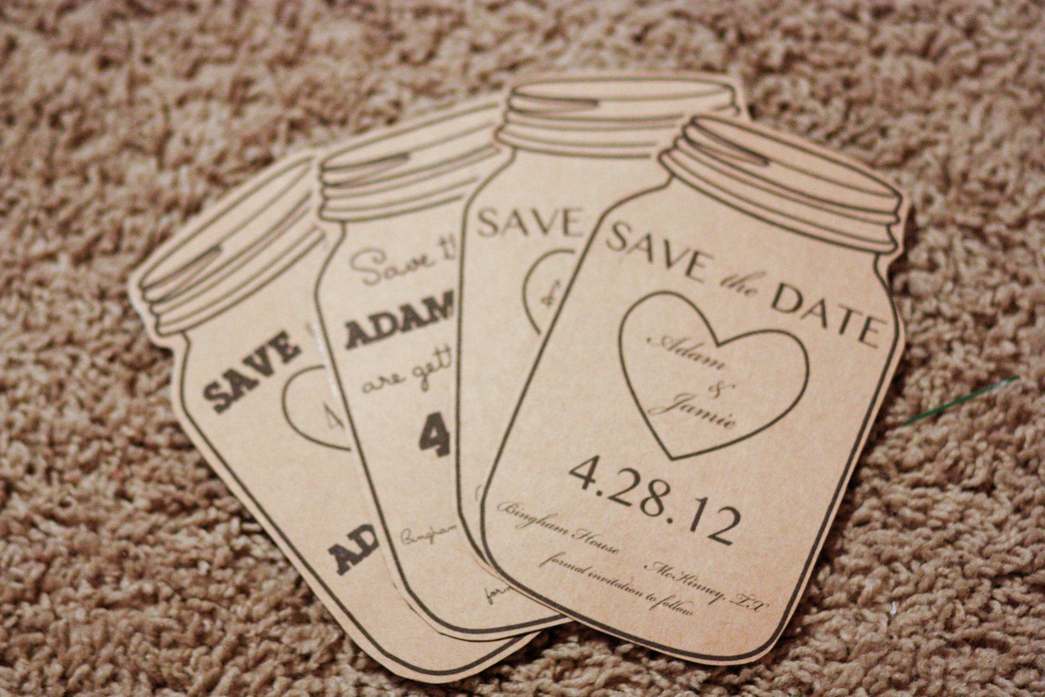 Magnet, Mason Jar Save the Date- Rustic Wedding Invitation Maybe ...