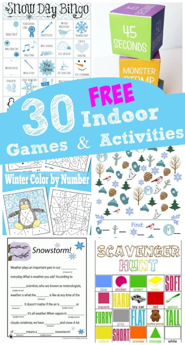 30 FREE Printable Winter Games & Activities Rainy day