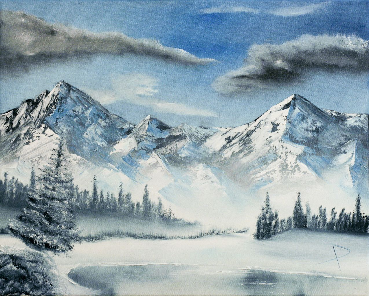 Art Winter Scenes Mountains Scenes Gallery Art For Sale Wintery Mountain Wonderland Mountain Paintings Watercolor Mountains Mountain Scene
