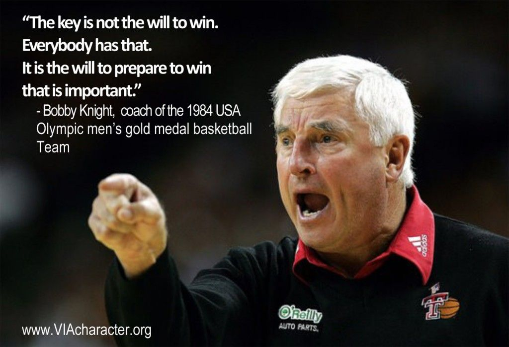 Quote By Bobby Knight Perseverance Bobby Knight Quotes Bobby