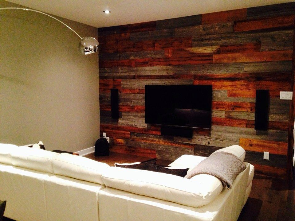 mur de bois de grange salon mur bois de grange pinterest wood projects and woods. Black Bedroom Furniture Sets. Home Design Ideas