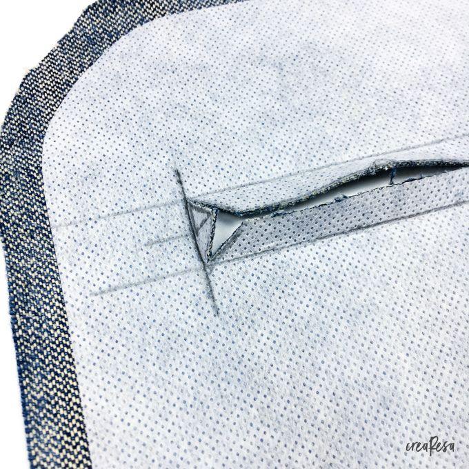 Photo of Sewing a zipper pocket – Instructions – crearesa.de