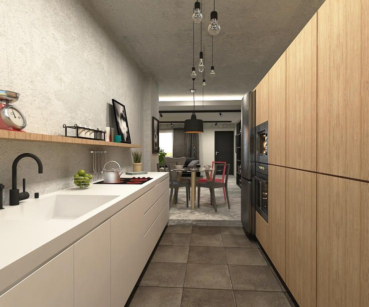 Interior Design For Kitchen For Flats: Modern 4 Room HDB Flat With A Touch Of Vintage.