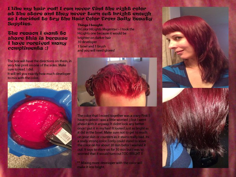 Coloring My Hair With Products Form Sally Beauty Supply Store First