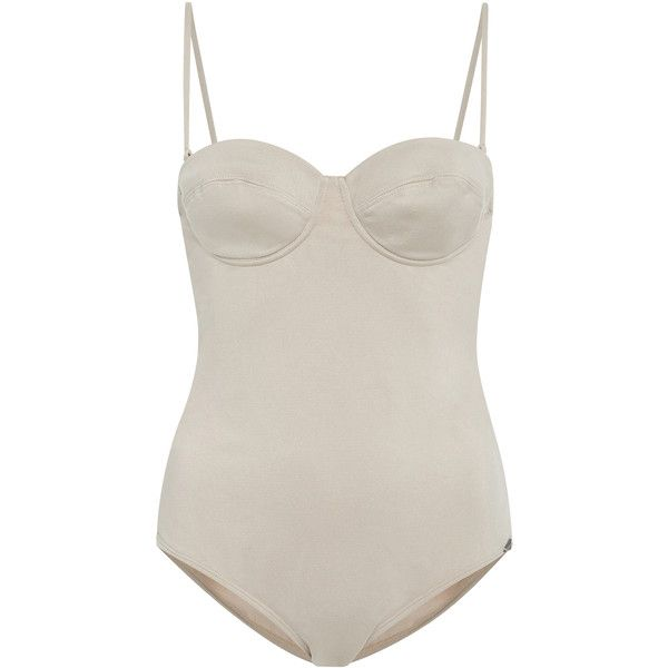 Prism     St Barts Bustier Swimsuit ($295) via Polyvore featuring swimwear, one-piece swimsuits, white, swimming costumes, bathing suit swimwear, one piece swimsuit, swimsuit swimwear and swim costume