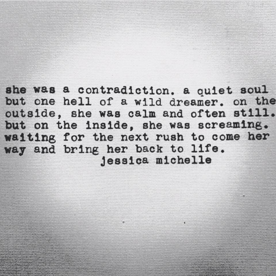 She was a contradiction      | Words    | Infp personality