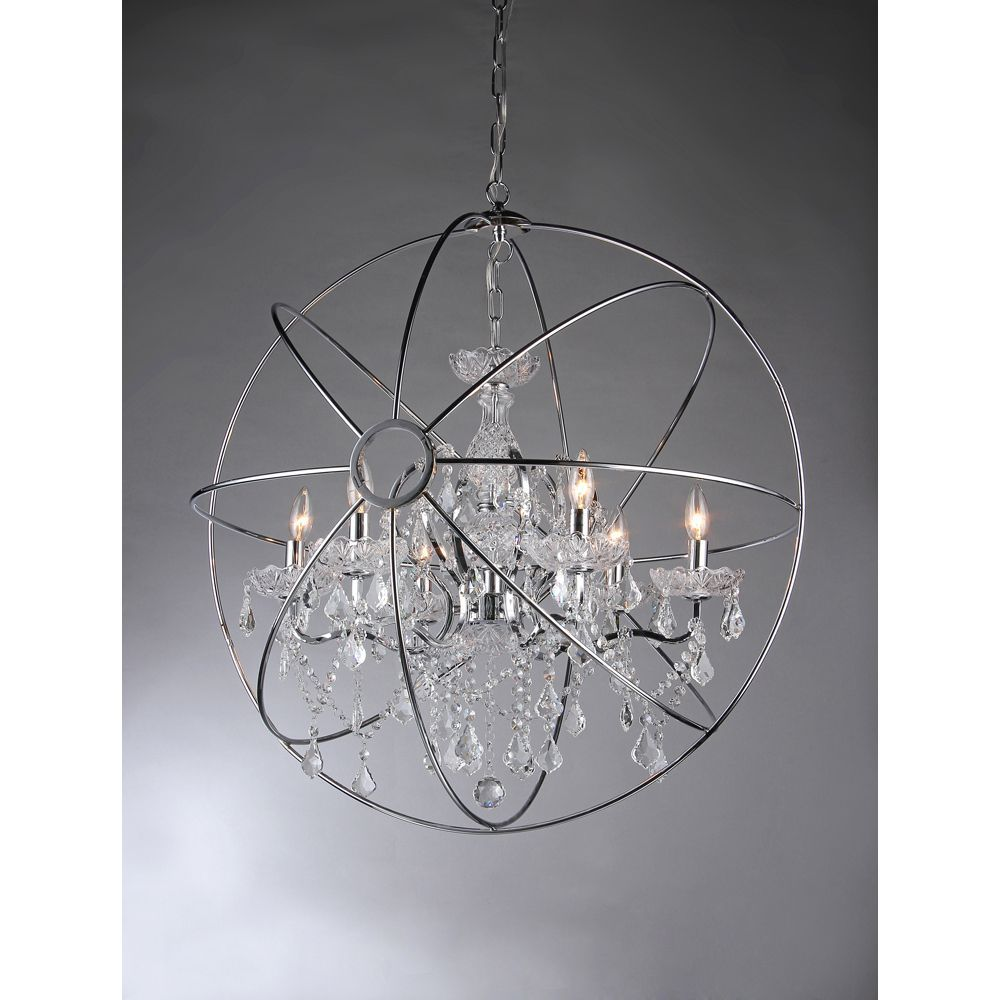 Saturns ring chandelier overstock shopping great deals on this dynamic lighting element features generous crystals to catch the light for and impressive display perfect for your arubaitofo Choice Image