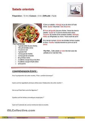 Une recette de cuisine - La fiche technique en cuisine ...