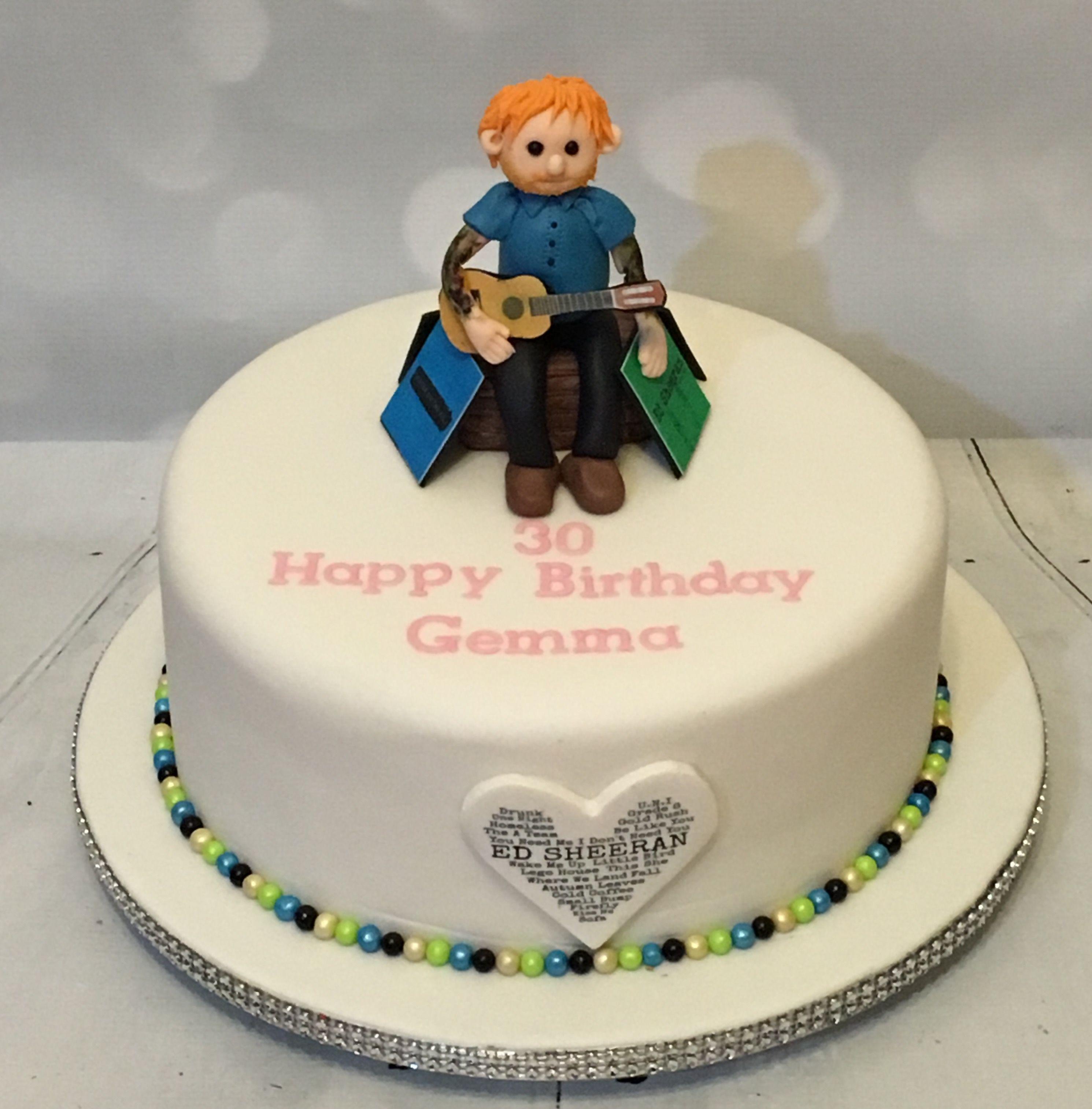 Ed Sheeran Birthday Cake