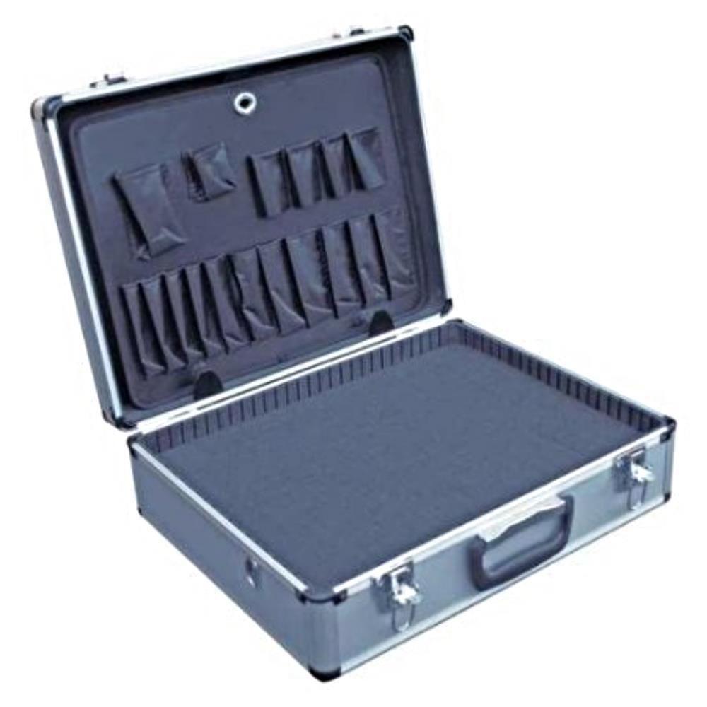 PROTECTIVE BUSINESS BRIEFCASE Aluminum Travel Secure Hard Locking Case Foam