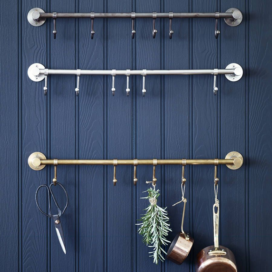 Our premium quality hook rail looks fabulous in the kitchen to show ...