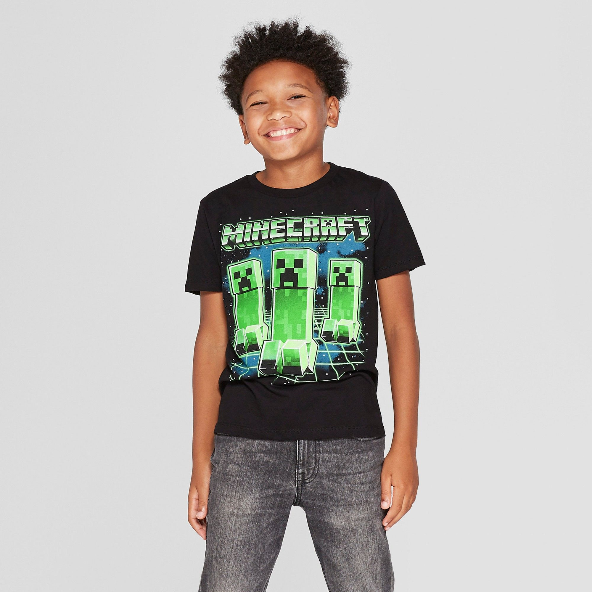 93808c00c Boys' Minecraft Short Sleeve Graphic T-Shirt - Black XL | Products ...