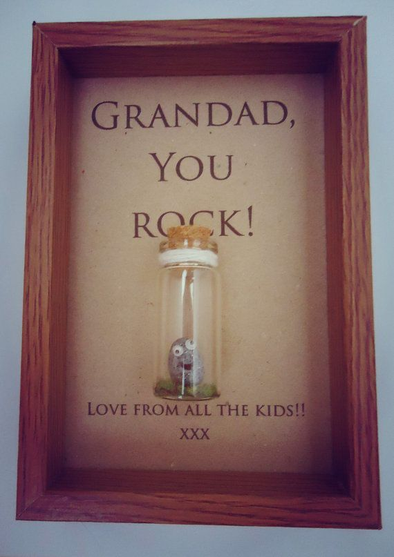 Cute Grandad Gift Personalised Box Frame Add Names Or Your