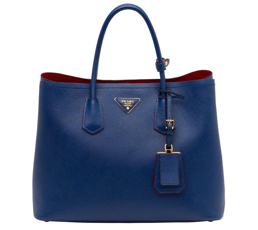 e7937e43d05aad Prada Saffiano Cuir Double Bag Blue | Style | | Prada bag, Bags ...