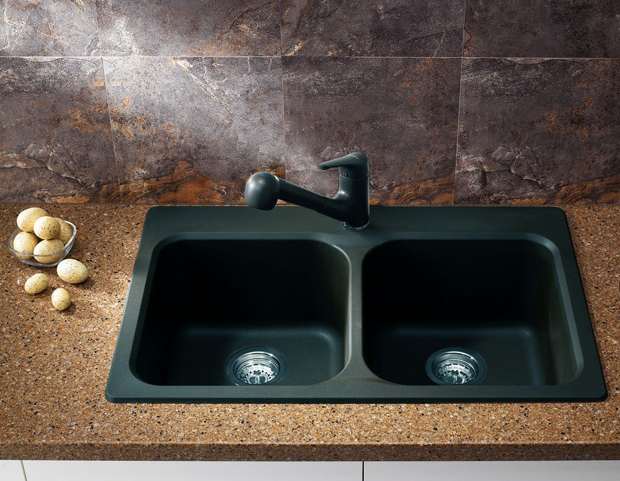 Colour matched pull-out faucet also included. Sink is non-porous and ...
