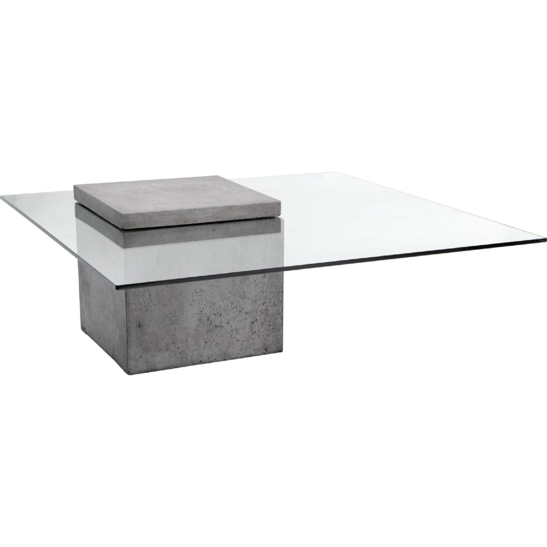 Sunpan 47901 Grange Coffee Table Sealed Concrete Tempered Glass Concrete Coffee Table Coffee Table Modern Coffee Tables [ 1500 x 1500 Pixel ]