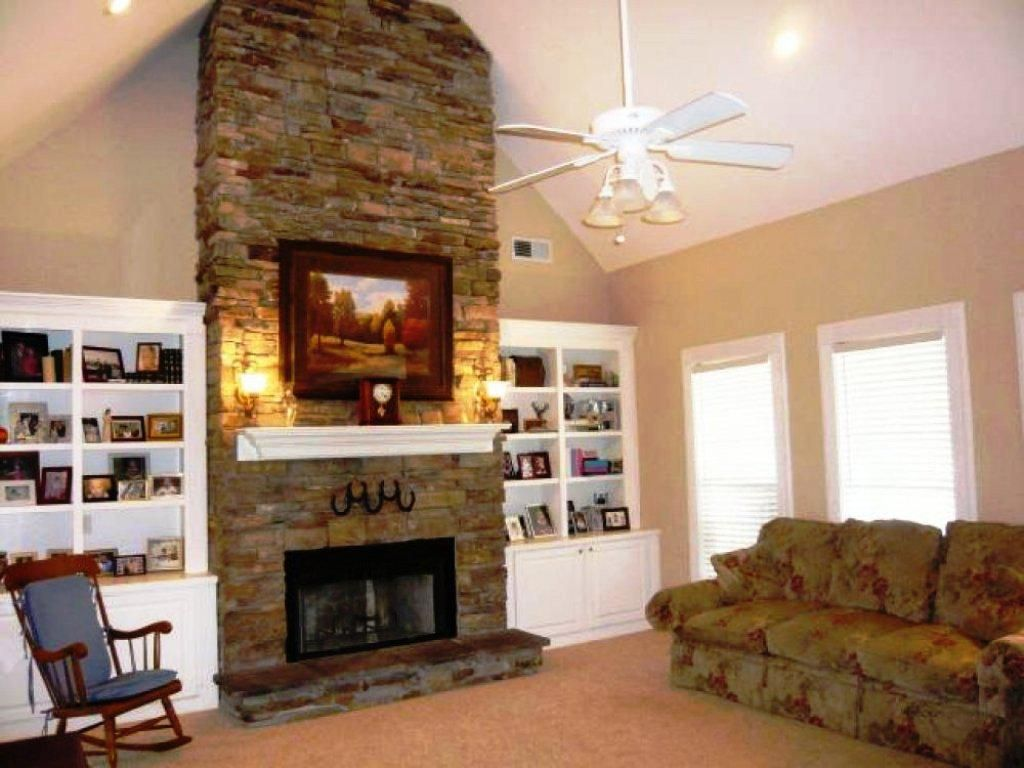 Stacked stone fireplaces for today's homes. Pin by Carrie Palmer on Fireplace | Fireplace built ins ...