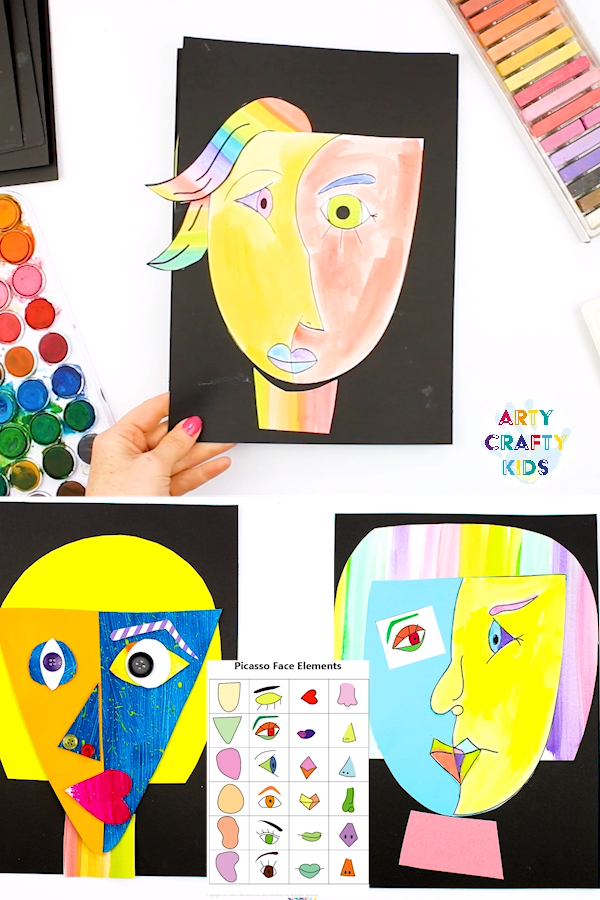 Picasso Faces Easy Art For Kids Video Video Easy Art For Kids Kids Art Projects Picasso Art