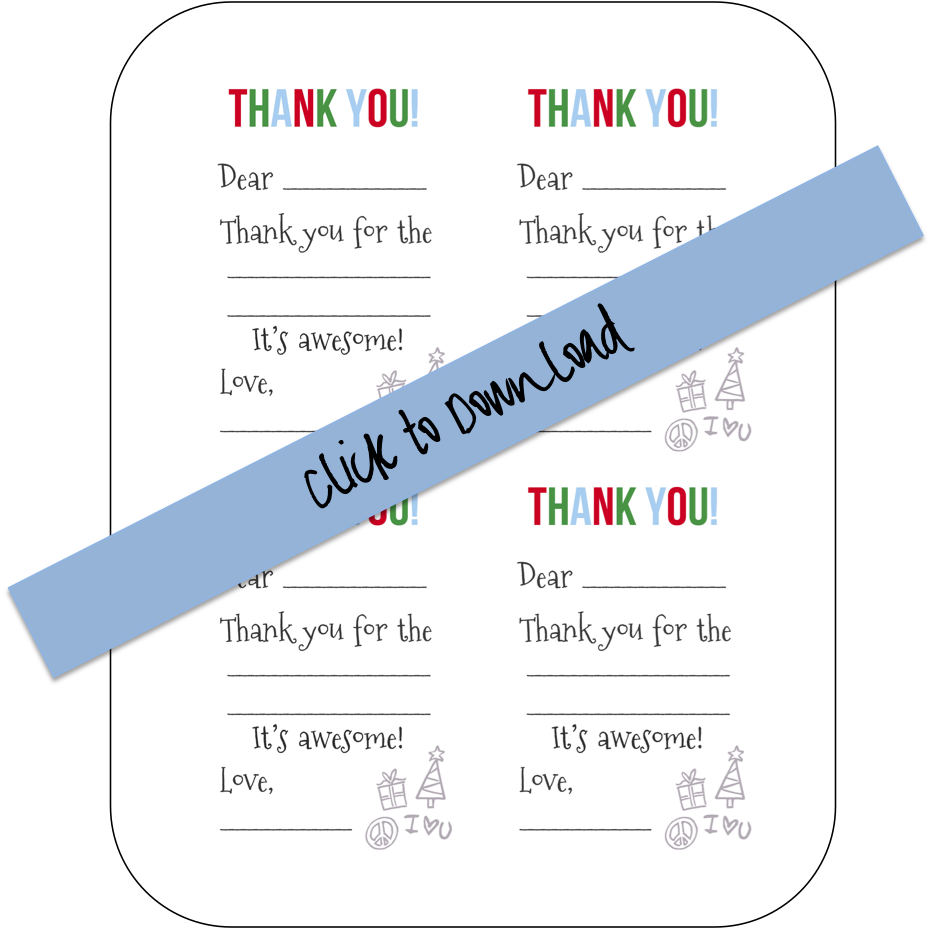 Printable Fill-in-the-Blank Thank You Notes (Free Download) | DIY ...