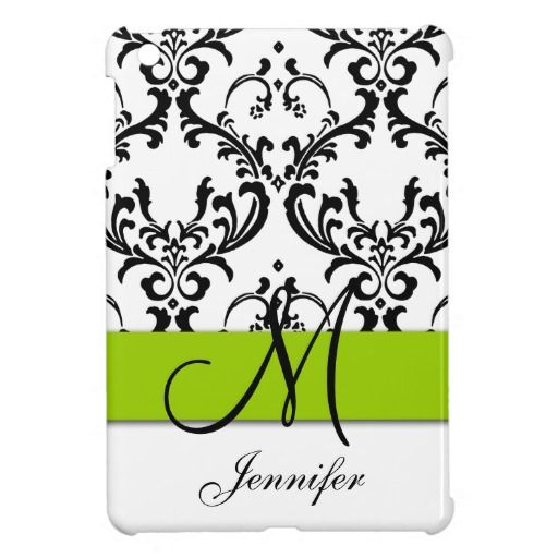 Monogrammed Lime Green Black White Swirls Damask Case For The iPad Mini We provide you all shopping site and all informations in our go to store link. You will see low prices onDiscount Deals          Monogrammed Lime Green Black White Swirls Damask Case For The iPad Mini Here a grea...