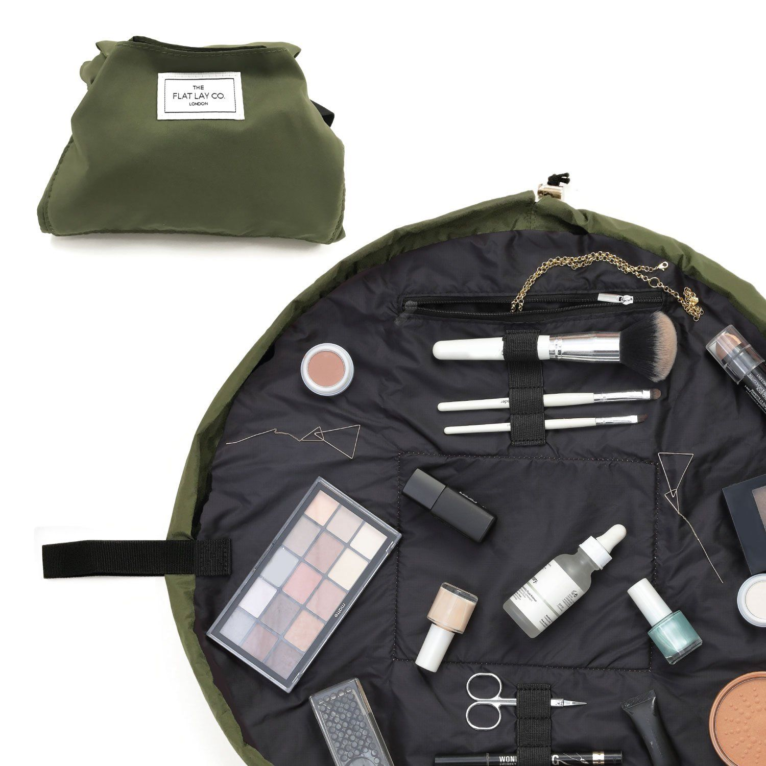 Utility Green Open Flat Makeup Bag 50cm in 2020 (With