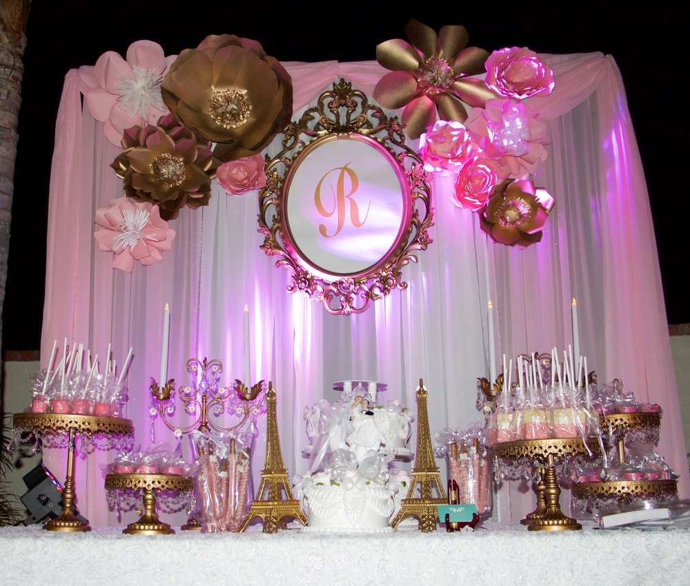 Paris wedding party ideas 15 a os cosas de cumplea os y for Decoracion cumpleanos nina 2 anos