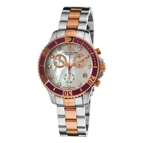 Women's Regatta Pearl Quartz Chronograph Stuhrling Original. $202.50. Save 70% Off!