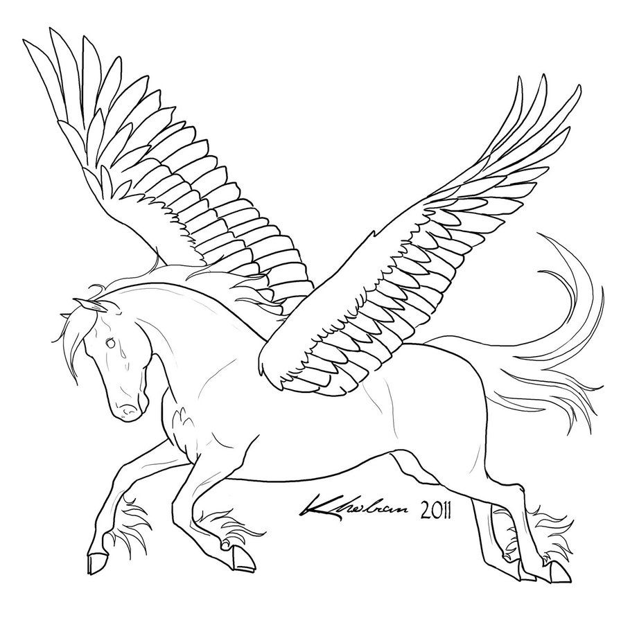 free printable pegasus coloring pages for kids - Coloring Pages Unicorn Wings