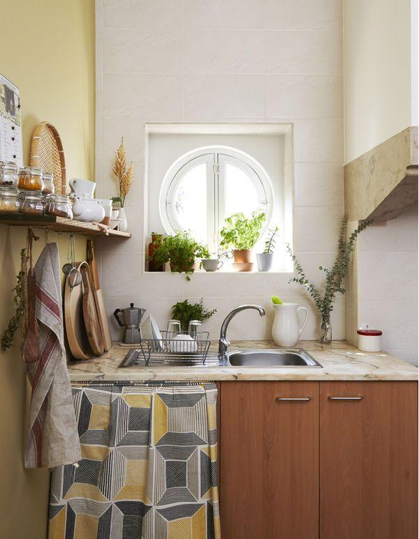 Use textiles to disguise kitchen appliances