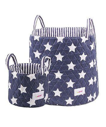 1ccac8c429a2 Minene Storage Basket Set - Navy & White Stars | Nursery Decor Ideas ...