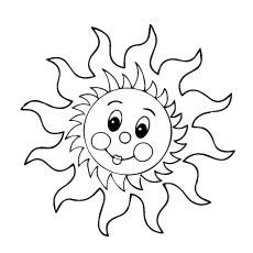 25 interesting sun coloring pages for your ones