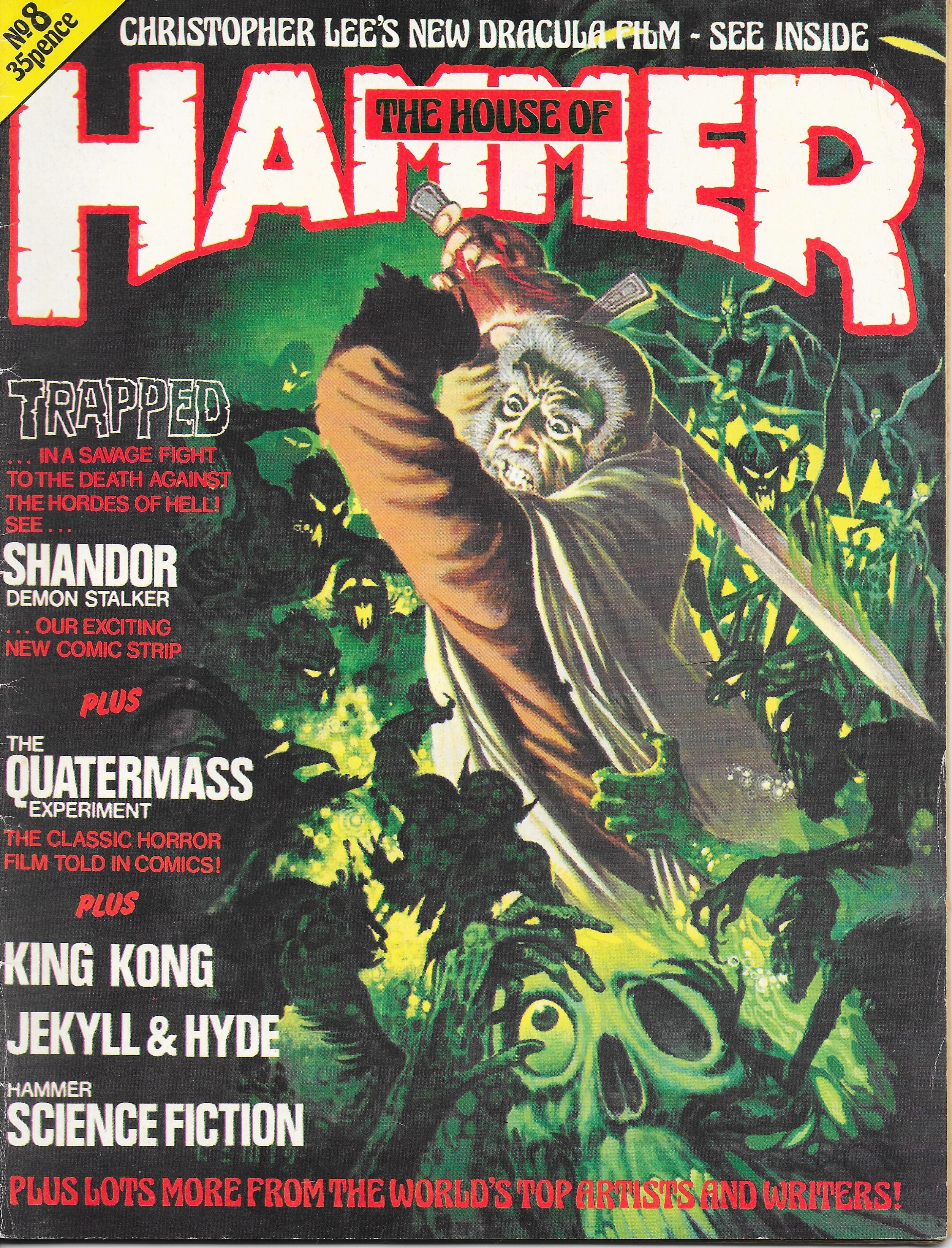 The House Of Hammer cover for 'the house of hammer issue 8. cover art by brian