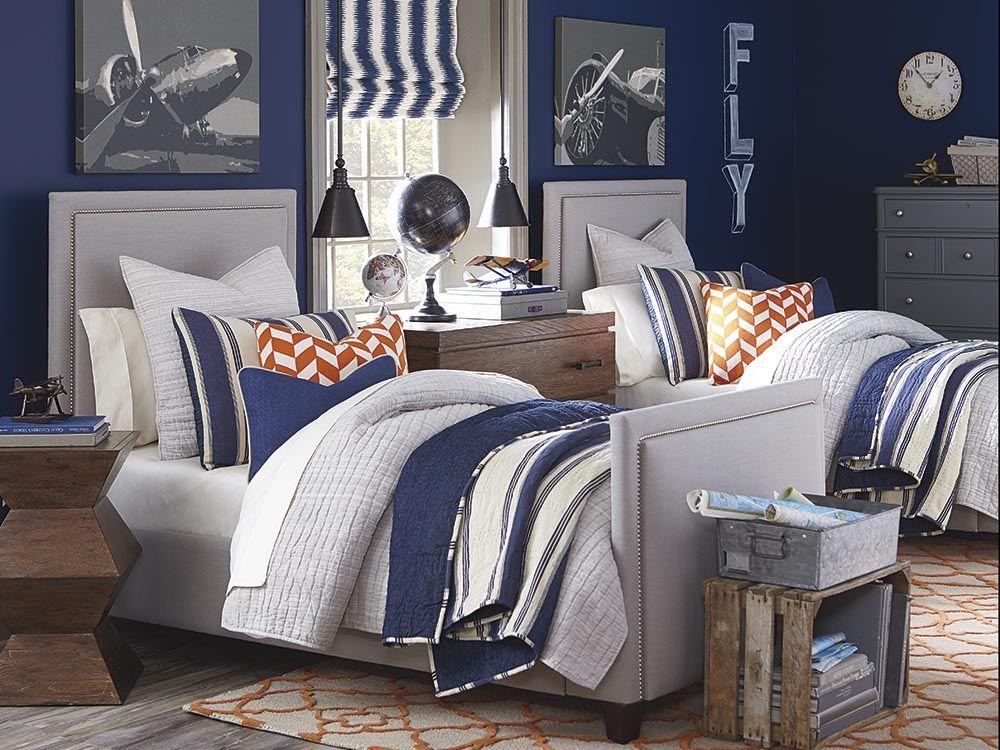 Custom Upholstered Manhattan Bed By Bassett Furniture Is