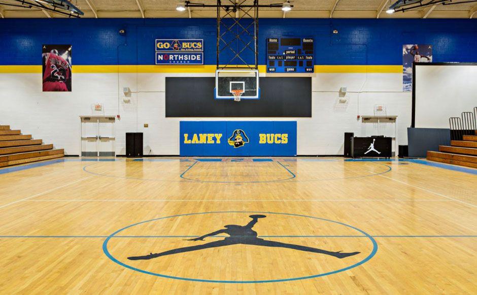 Where It Started Inside Michael Jordan S Renovated High School Gym Michael Jordan High School High School Basketball Michael Jordan