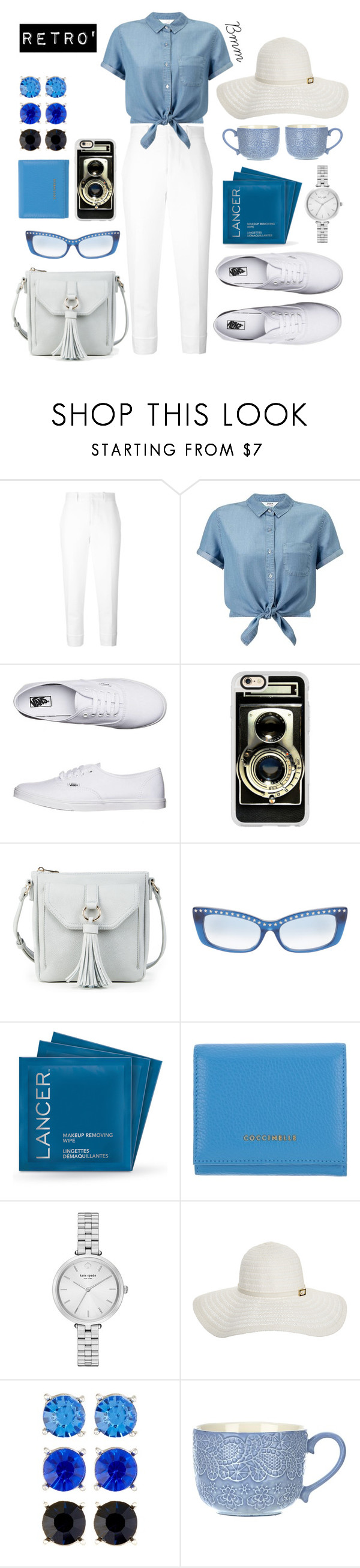 """""""1950"""" by bianca1408 ❤ liked on Polyvore featuring Marni, Miss Selfridge, Vans, Casetify, Sole Society, Linda Farrow, Lancer Dermatology, Coccinelle, Kate Spade and Melissa Odabash"""