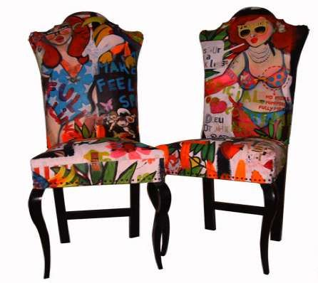 Set of Pop Art Chairs
