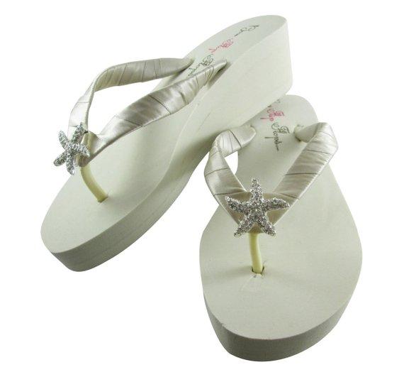 f367d157407db4 Wedge Bridal Flip Flops