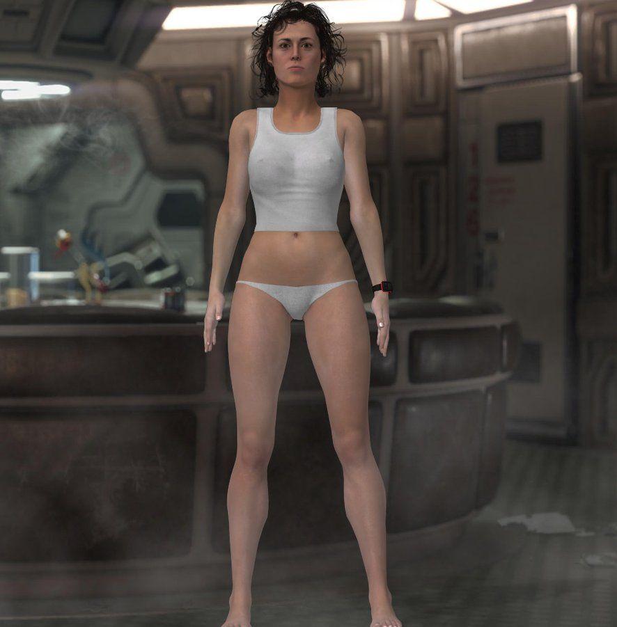 Alien Ripley In Lingerie V2 By Jc Starstorm It Came