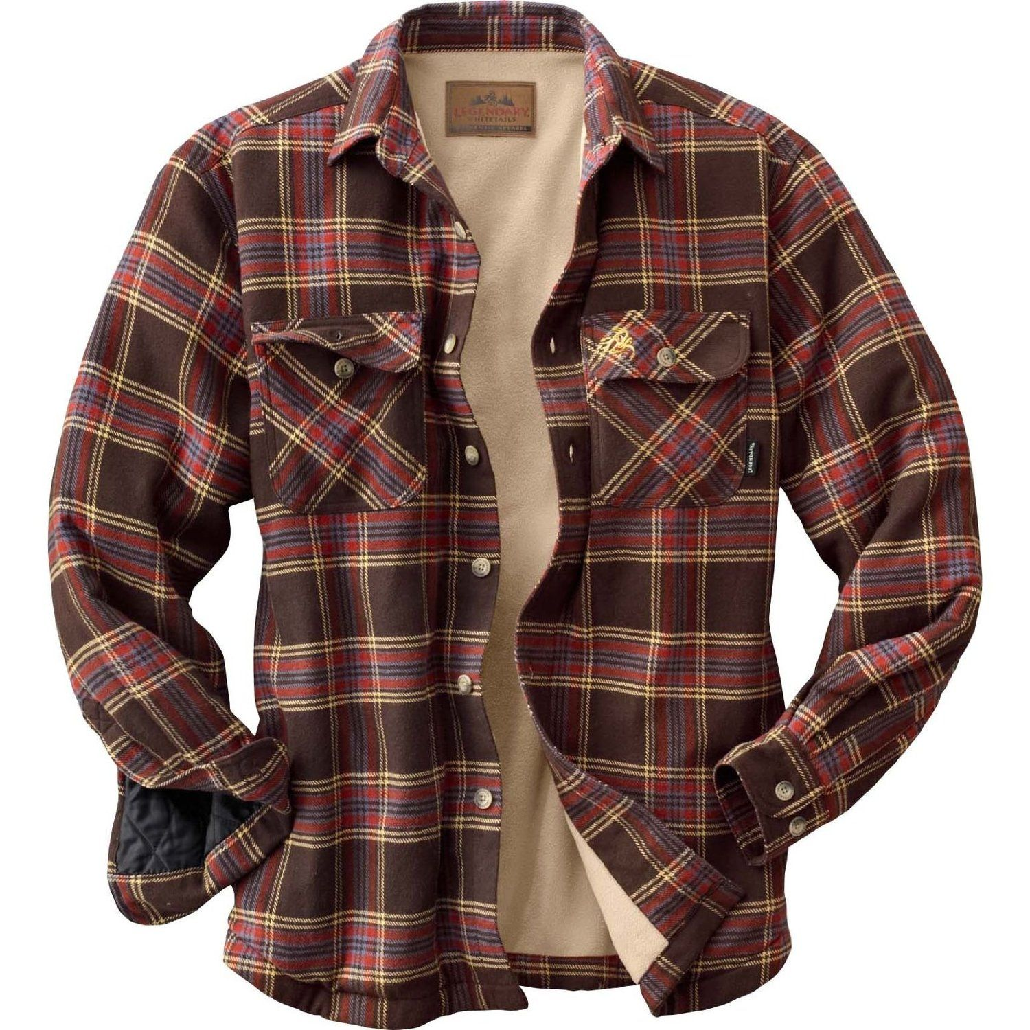 Quilted flannel shirt jacket  Amazon Legendary Whitetails Deer Camp Fleece Lined Shirt Jac